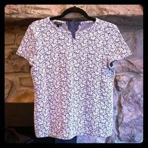 Talbots petites floral vintage top size small